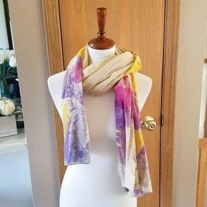 Doterra Yellow & Purple Scarf